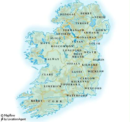 Map of Ireland - Ireland Maps Ireland Maps on