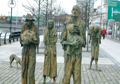 Irish famine Memorial, Dublin