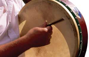 ceili, bodhran, traditional goat skin drum