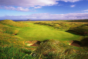 Glashedy Island forms the backdrop to the Glashedy course's signature hole