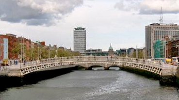 Halpenny Bridge, Dublin City, on the River Liffey