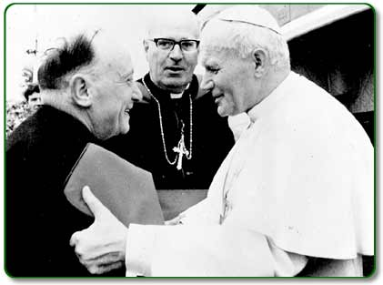 The Pope with Mgr Horan in Knock, 1979