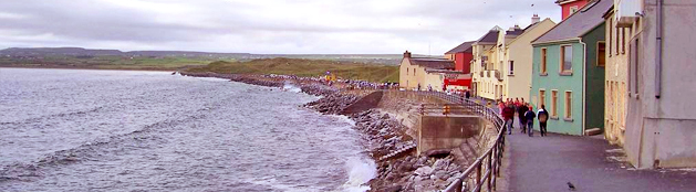 The town of Lahinch in County Clare on Ireland's Atlantic coast.