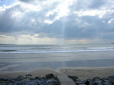 Views of the Atlantic Ocean from Lahinch Beach in County Clare, Ireland
