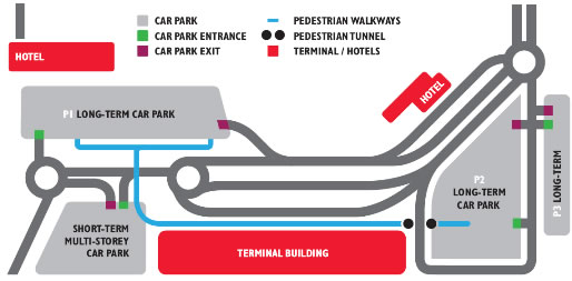 Map of Cork Airport - copyright Cork Airport Authority